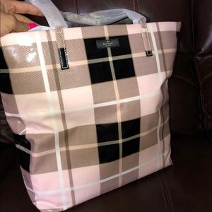 Kate Spade Plaid Bon Shopper Bag